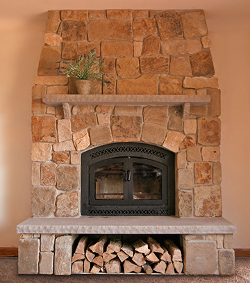 Custom Wood Fireplace Installation in the Greater Milwaukee area WI
