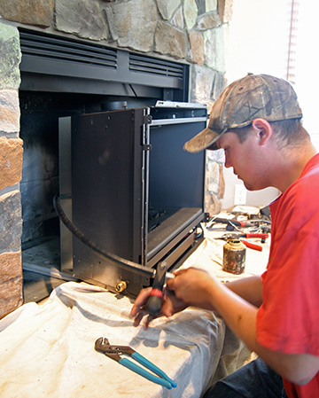 Installing a gas fireplace insert in Franklin WI