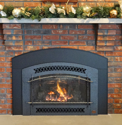 Gas burning fireplace inserts and gas insert installations in Milwaukee