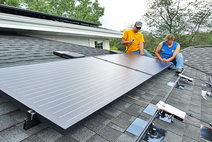 large residential solar electric installation in lake geneva near burlington wi