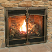 Wood and Gas Fireplaces on display at store near Sussex WI