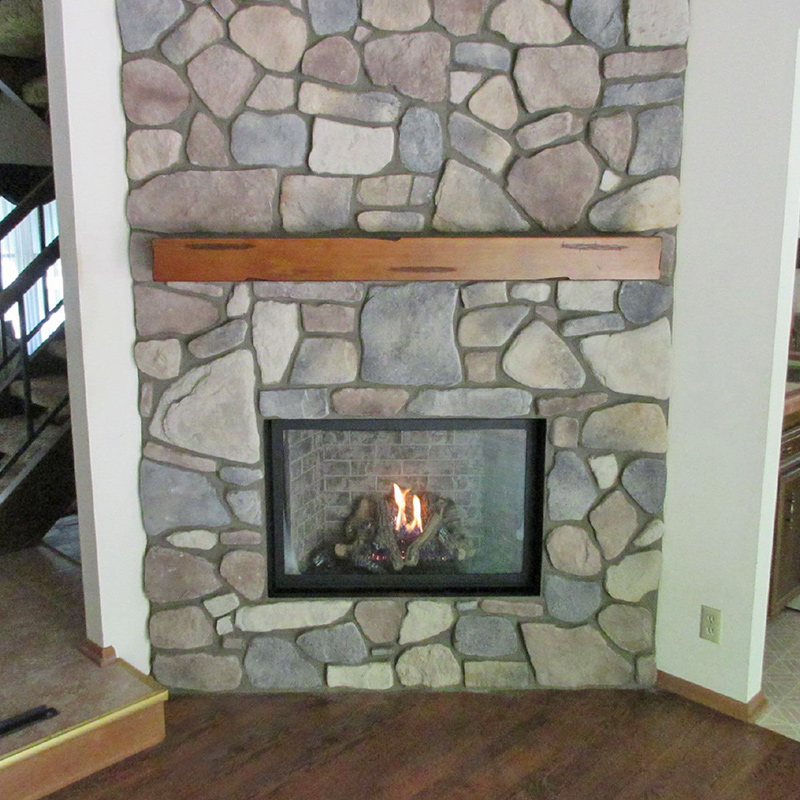 Custom Stone Fireplace - vernon wi