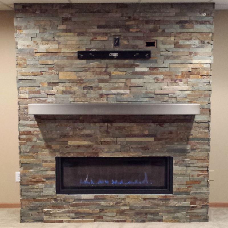 Custom Electric Commercial Fireplace Lake Geneva WI