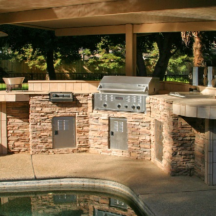 bbq island built in grill with sink outdoor kitchen