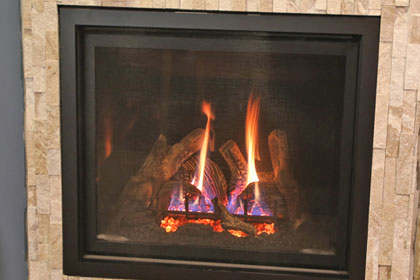 gas burning fireplace for sale in lake geneva wi