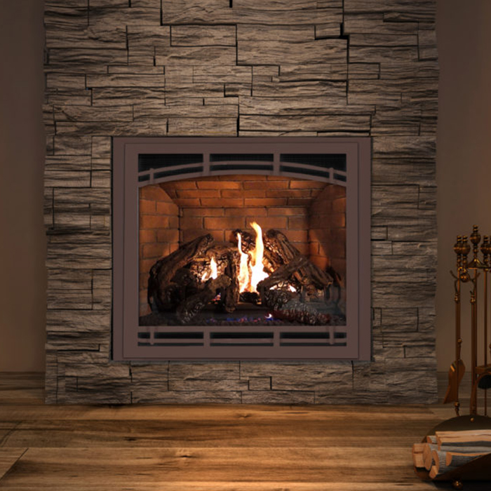 gas burning fireplace installation in Racine WI